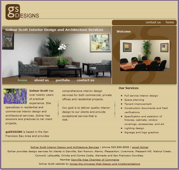 Golnar Designs website image and link
