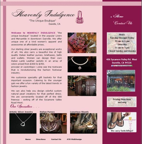 Heavenly Indulgence website image and link