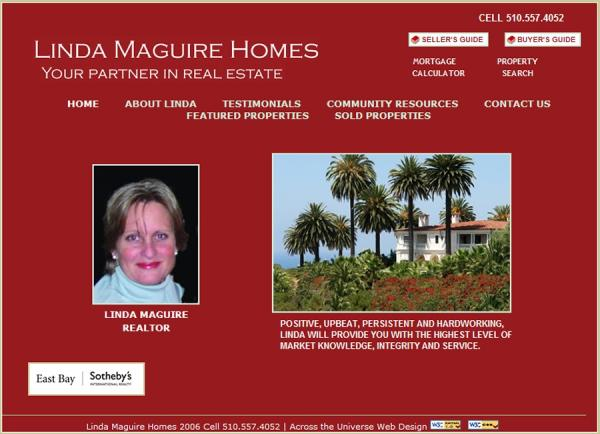 Linda Maguire Real Estate website image and link