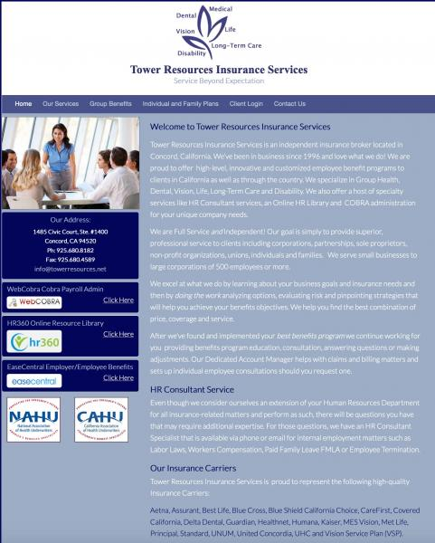 Tower Resources Insurance  website image and link