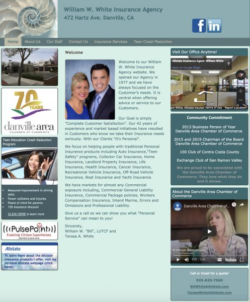 William White Insurance website image and link