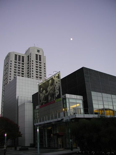 Moon Over Yerba Buena - Center for the Arts, San Francisco